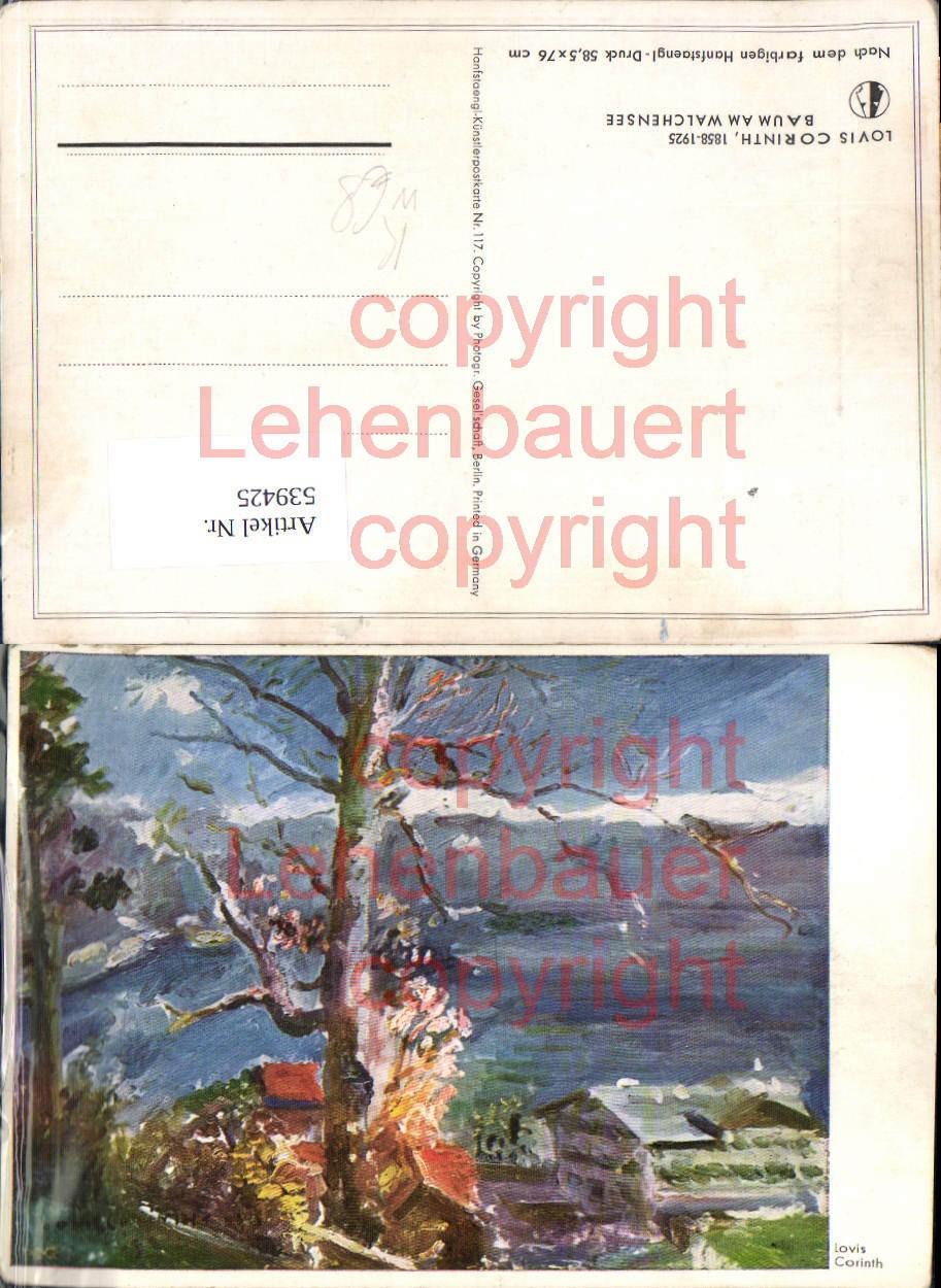 539425,seltene Künstler AK Lovis Corinth Baum am