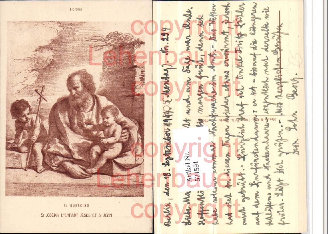 521591,Künstler AK Il Guercino St Joseph Josef m. Jesuskind