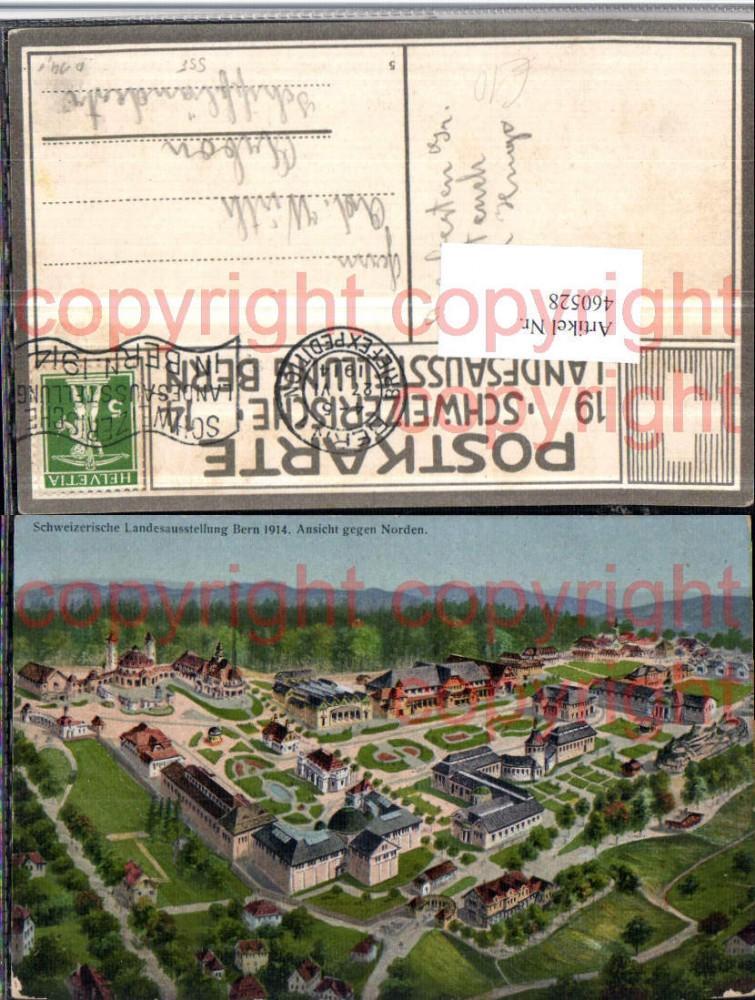 460528,Künstler AK Schweizerische Landesausstellung Bern 1914 Totale
