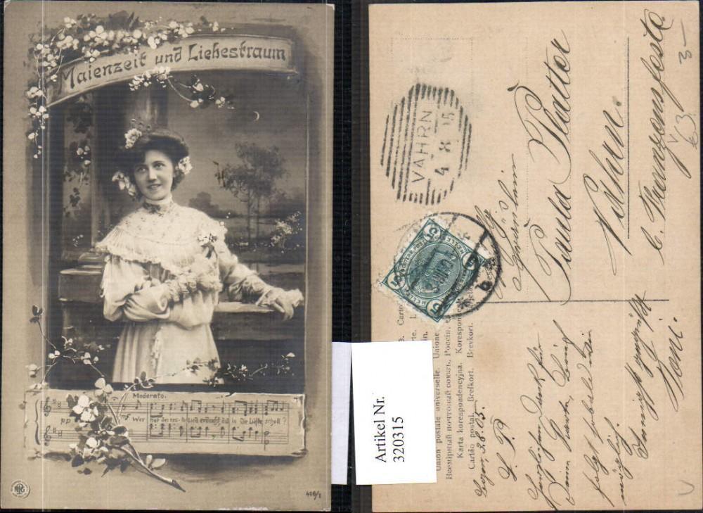 320315,Frau Maienzeit u. Liebestraum Notenzeile Musik pub NPG 416/1