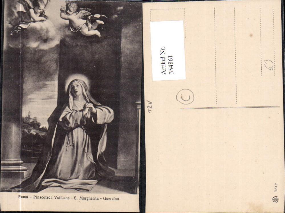 354861,Künstler Ak Guercino S. Margherita Pinacoteco Vaticana Roma Rom Religion