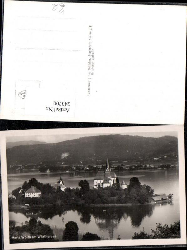 243700,Maria Wörth am Wörthersee Totale Kirche pub Franz Schilcher 303