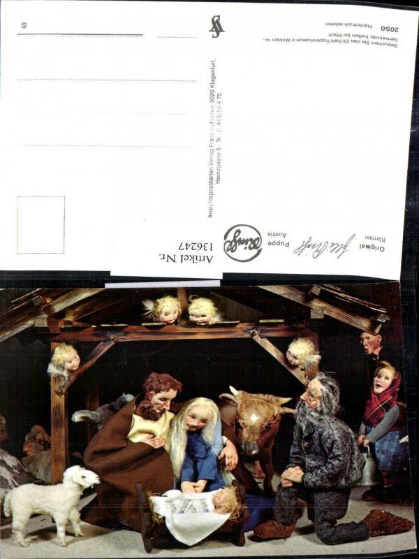 136247,Puppen Elli Riehl 2050 Spielzeug Jesuskind Krippe Bethlehem Engel Heilige Familie Stall