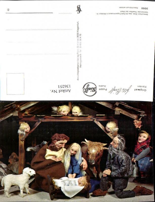 136251,Puppen Elli Riehl 2050 Spielzeug Jesuskind Krippe Bethlehem Engel Heilige Familie Stall