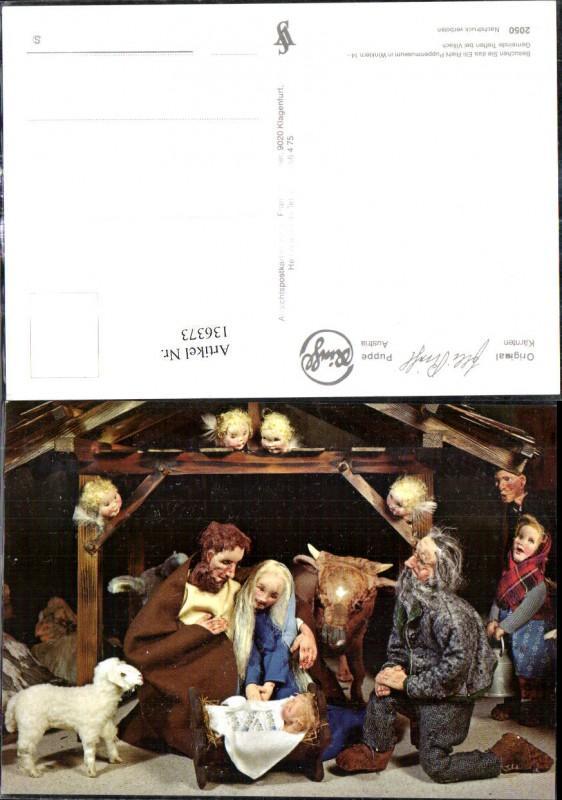 136373,Puppen Elli Riehl 2050 Spielzeug Jesuskind Krippe Bethlehem Engel Heilige Familie Stall
