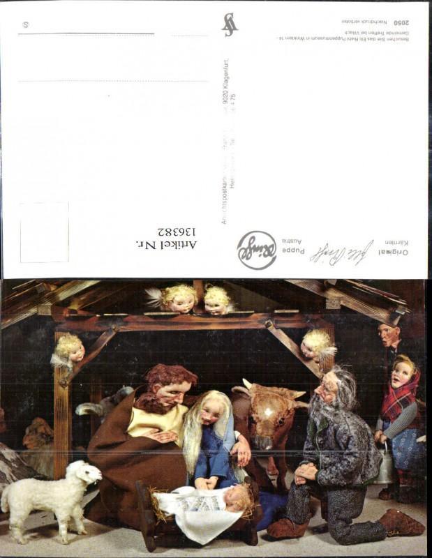 136382,Puppen Elli Riehl 2050 Spielzeug Jesuskind Krippe Bethlehem Engel Heilige Familie Stall