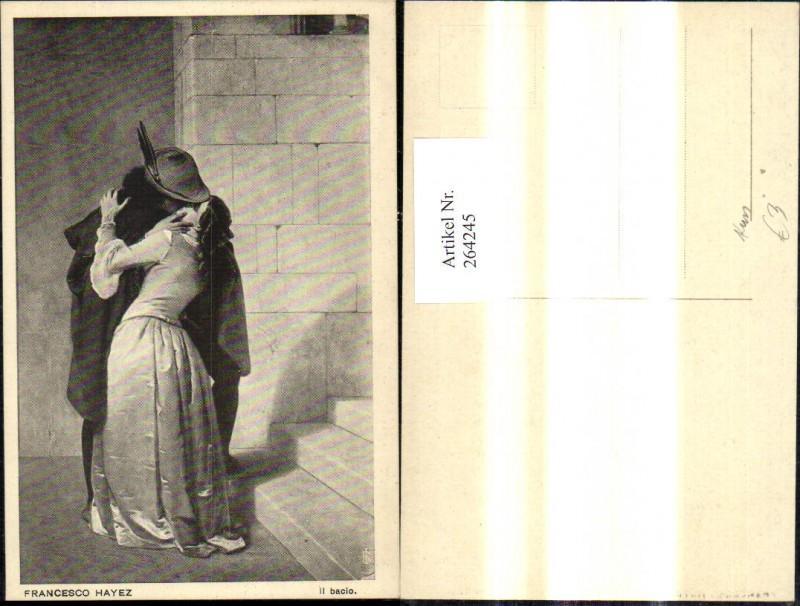 264245,Künstler Ak Francesco Hayez Il bacio Kuss