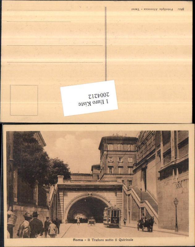 2004212,Roma Rom Il Traforo sotto il Quirinale Straßenansicht Straßenbahn Nr. 303