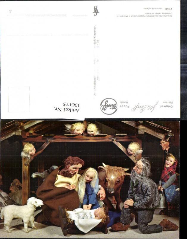 136375,Puppen Elli Riehl 2050 Spielzeug Jesuskind Krippe Bethlehem Engel Heilige Familie Stall