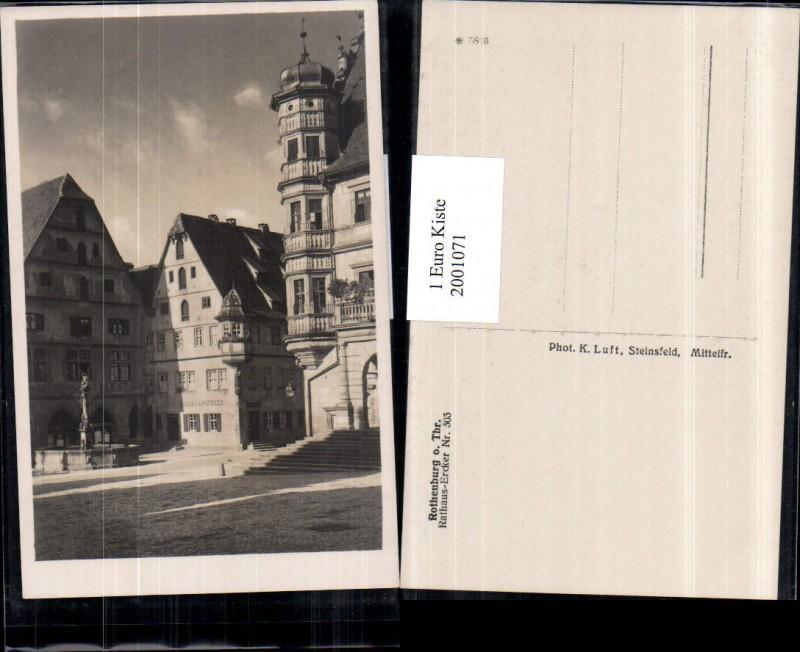 2001071,Rothenburg ob der Tauber Rathaus-Ercker Nr 303 Brunnen