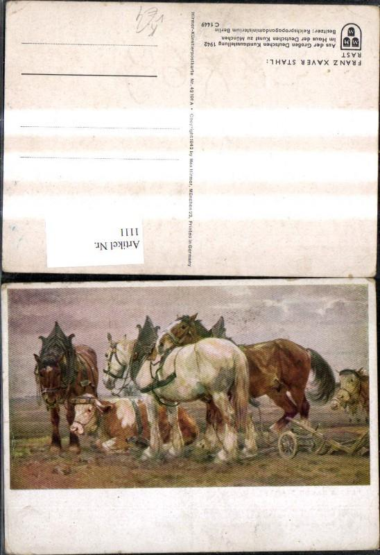 1111,Künstler Ak Franz Xaver Stahl Rast pub Hirmer 42191 A