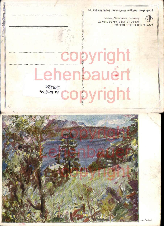 539424,seltene Künstler AK Lovis Corinth Walchensee bei