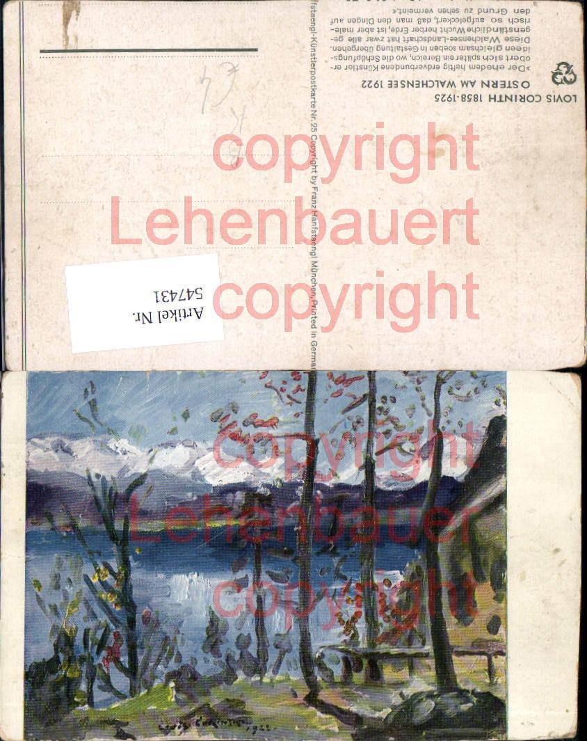 547431,Künstler AK Lovis Corinth Ostern am Walchensee