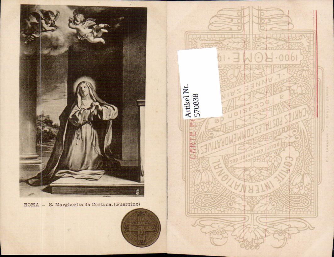 570838,Rom Roma S. Margherita da Cortona Guercino Betende Heilige Engel Italy