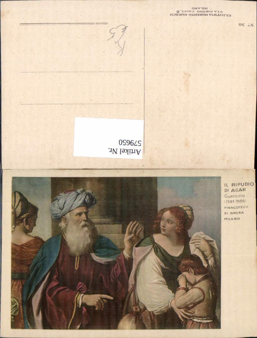 579650,Künstler Ak Guercino Il Ripudio di Agar Religion