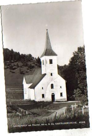 1924,Lackenhof bei Gaming Kienberg -Kartäuserkirche