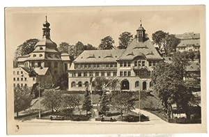 7066,Klingenthal Vogtland Rathaus m. Kirche