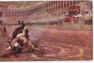 30409,J. Styka Stierkampf Gladiator Ursus terrassant l