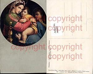 448697,Künstler AK Raphael von unbek Madonna della