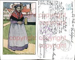 479061,Künstler Ak Jules Fonteyne Alte Frau Tracht
