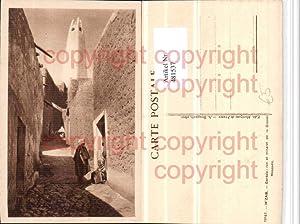 481537,Algeria M'Zab Gardaia Rue et minaret de