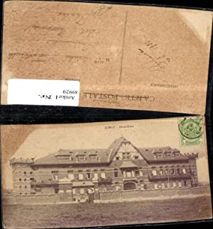 89929,Jumet Hotel Dieu Frontansicht 1952