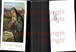 408454,Andachtsbild Heiligenbildchen Flatz Selige Kreszentia Heiligenschein