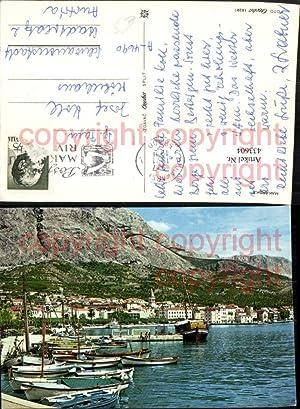 433604,Croatia Makarska Totale Hafen Boote