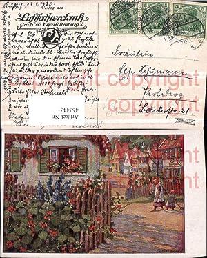 463443,Künstler AK Biedermann Kleinstadtidyll pub Luftfahrerdank Charlottenburg