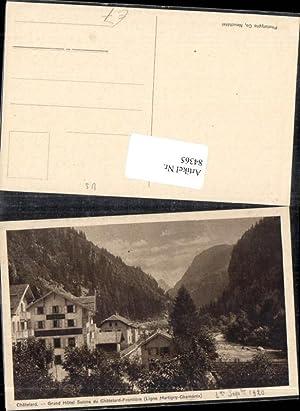 84365,Chatelard Grand Hotel Suisse du Chatelard Frontiere