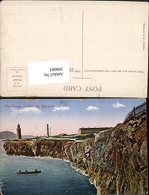390001,Great Britain Gibraltar Europe Lighthouse Leuchtturm Küste