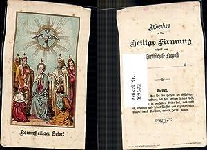 389672,Andachtsbild Heiligenbildchen Komm heiliger Geist Flammen Firmung