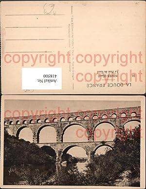 418500,Nimes Gard Le Pont du Gard Brücke