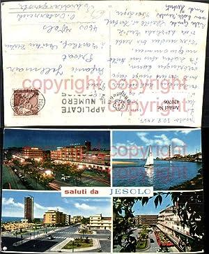 420706,Veneto Venezia Jesolo Teilansicht Segelboot Leuchtturm Mehrbildkarte