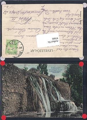 97601,Budapest Margarethen Insel Wasserfall