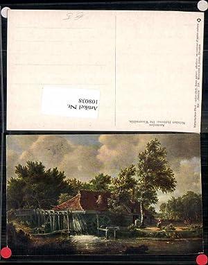 108038,Meindert Hobbema Wassermühle Wasserrad Mühle