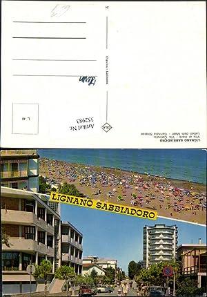 352983,Friuli-Venezia-Giulia Udine Lignano Sabbiadoro Straßenansicht Strand Mehrbildkarte