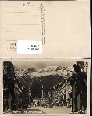 373824,Innsbruck Maria Theresienstraße Straßenansicht Fotomontage Statuen Ritter