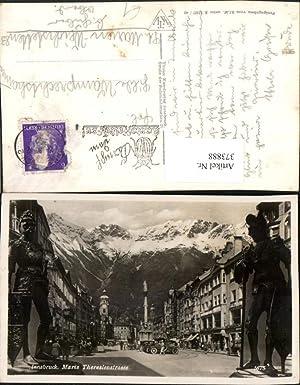 373888,Innsbruck Maria Theresienstraße Straßenansicht Fotomontage Statuen Ritter