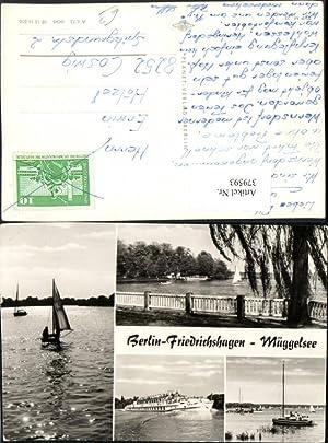 379593,Berlin Friedrichshagen Müggelsee See Segelboot Schiff Mehrbildkarte