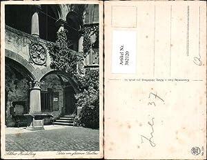 382120,Heidelberg Schloss Partie vom gläsernen Saalbau Arkaden