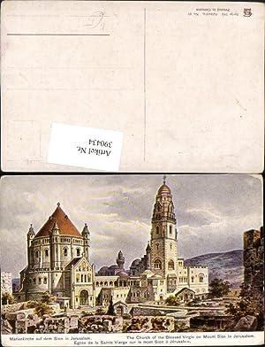 390434,Künstler AK F. Perlberg Israel Jerusalem Marienkirche