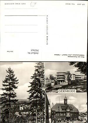 392565,Gernrode Rathaus Ferienheim Fritz Heckert Mehrbildkarte