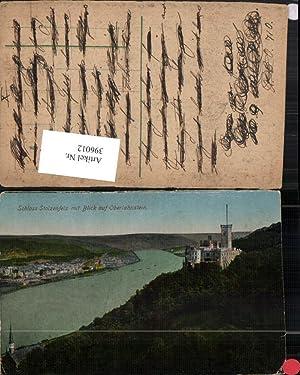 396012,Koblenz Schloss Stolzenfels m. Blick auf Oberlahnstein