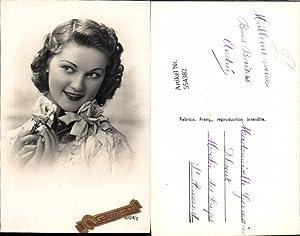 554382,tolle Foto-AK Frau Mode Portrait Art Deco