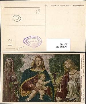 354753,Künstler Ak Bernardino Luini La Madonna col