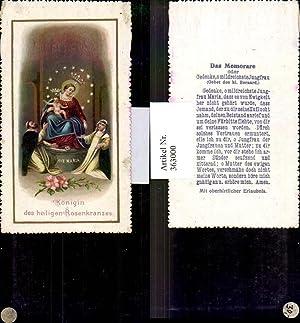 363000,Andachtsbilder Heiligenbildchen Ave Maria Rosenkranz Jesuskind Das