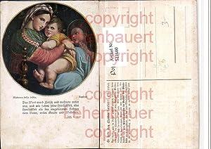 521600,Künstler AK Raphael Madonna della Sedia Maria