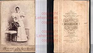 530279,CDV Kabinettfoto Atelier Leopold König Wels Frau