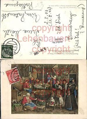 543390,Künstler AK Jan Brueghel Bauernstube pub Max